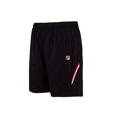 FILA男平織短褲-黑 1SHS-5005-BK