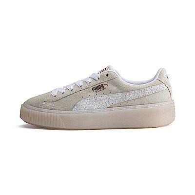 PUMA-SuedePlatformArticaWn s女性復古休閒鞋-白色