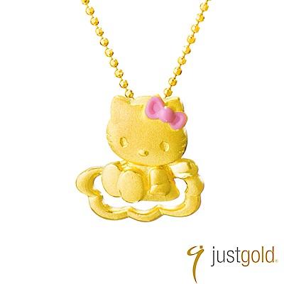 鎮金店Just Gold Hello Kitty純金系列 戀愛物語-黃金墜子