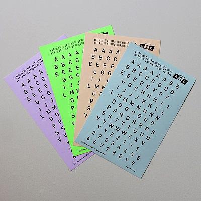 CBB ABC123字母數字貼紙組(4入)-05復古版