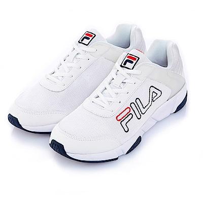 FILA中性慢跑鞋-白 4-J526S-113
