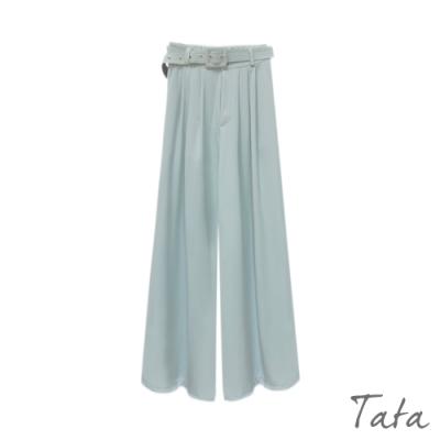 素色雪紡寬褲(附腰帶) 共三色 TATA-F