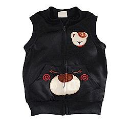 小熊薄背心外套 黑 k60761 魔法Baby