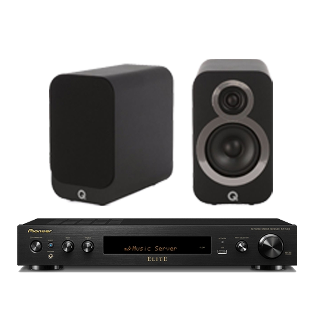 Pioneer 先鋒和Q ACOUSTICS 擴大機SX-S30-B和喇叭超級組合-黑