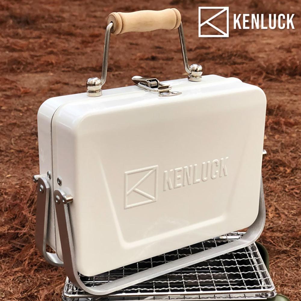 【KENLUCK】迷你攜帶型烤肉架Mini Grill 雅典白