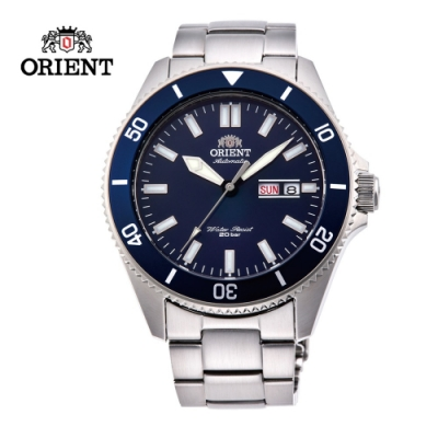 ORIENT 東方錶 WATER RESISTANT系列 200m潛水錶 鋼帶款 藍色 RA-AA0009L
