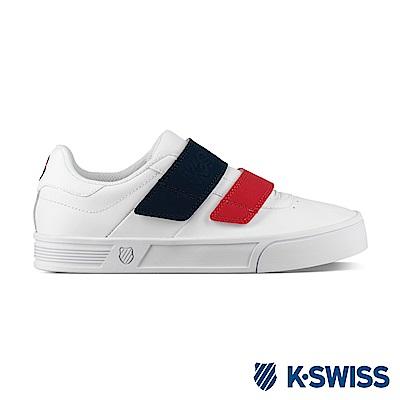 K-SWISS Court Lite Velcro時尚運動鞋-女-白/ 藍/ 紅