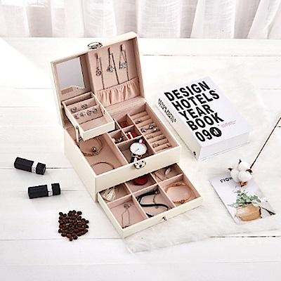 梨花HaNA 經典質感女伶收納雙層珠寶盒首飾箱