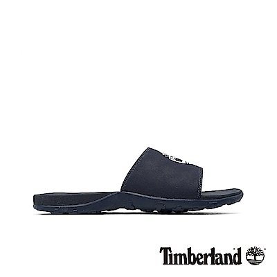 Timberland 男款深藍色大樹LOGO拖鞋|A1XAP