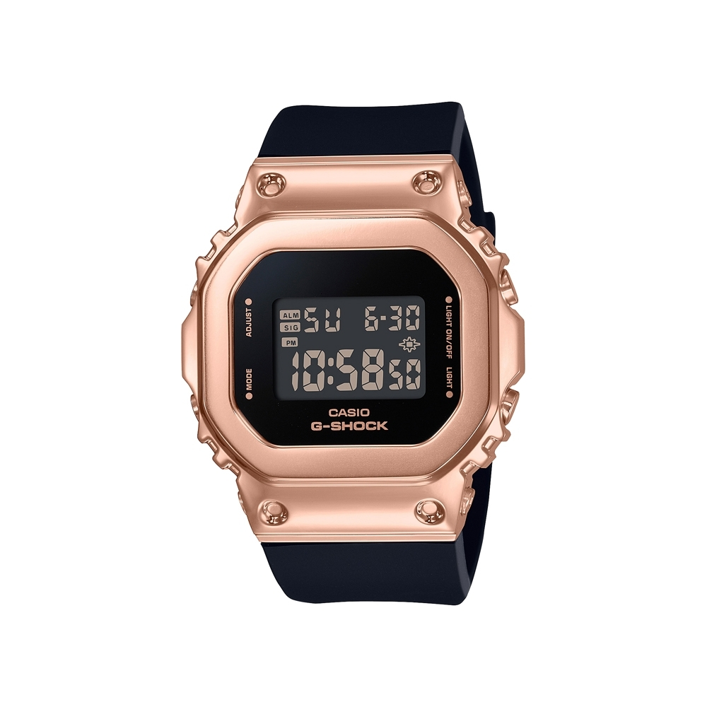 CASIO卡西歐 G-SHOCK 簡約優雅 玫瑰金錶殼 金屬時尚 GM-S5600PG-1_38.4mm