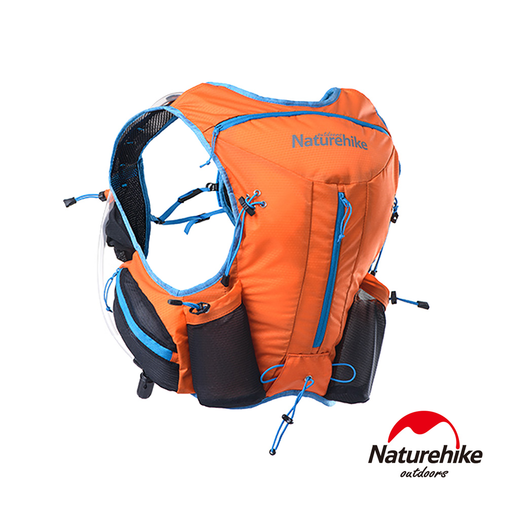Naturehike 12L輕量化背心式越野跑步後背包 水袋包 橘色-急