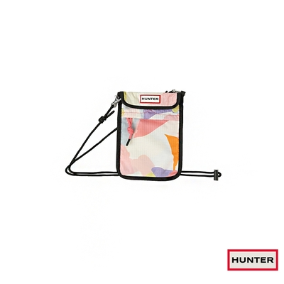 (時時樂)HUNTER - 印花可收納尼龍手機包-粉彩