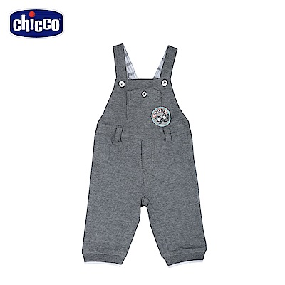 chicco-小熊家族-緹織點吊帶長褲