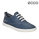 ECCO LEISURE超柔軟牛皮透氣休閒鞋 女-藍