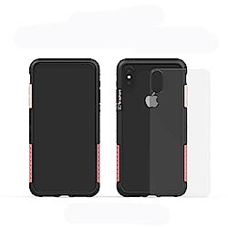 Telephant太樂芬 NMD iPhone XS MAX 黑-配玫瑰(附背蓋)