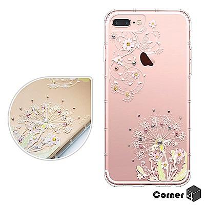 Corner4 iPhone8/7/6s Plus 5.5吋奧地利彩鑽防摔手機殼-彼岸花