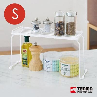 日本天馬 廚房系列桌上/水槽下兩用可層疊置物架-S