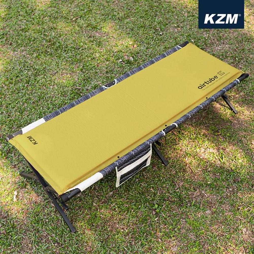 KAZMI KZM 自動充氣單人床墊(卡其)