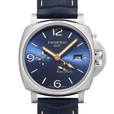PANERAI 沛納海PAM00964 Luminor Due GMT鈦金屬自動上鍊x藍面x45mm