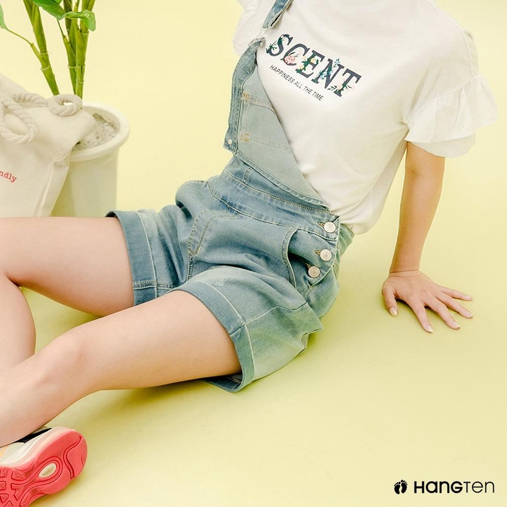 Hang Ten- 青少童裝-時尚飛袖網紅T恤-白