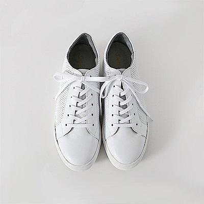 【AIRKOREA韓國空運】真皮革透氣休閒鞋-隱形增高3公分-粉