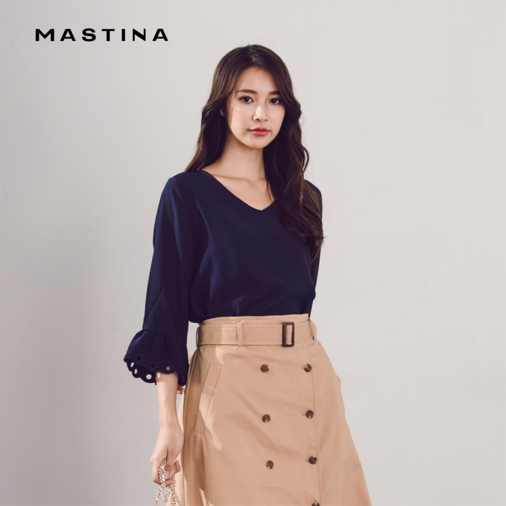 【MASTINA】優雅蕾絲七分袖-襯衫(二色)