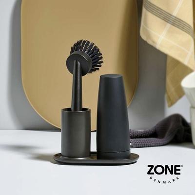丹麥ZONE Singles餐具清潔二件組(附陶瓷收納座)