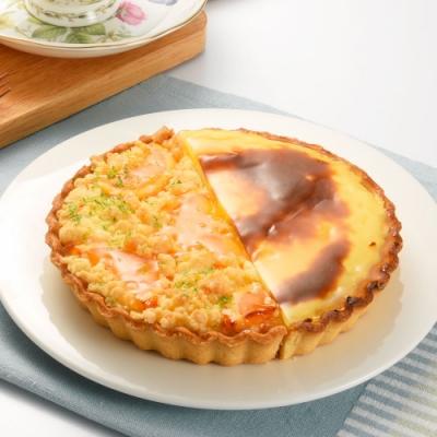 (滿10件)亞尼克雙享派 橙香起司烤布丁派6吋