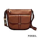 FOSSIL RYDER 柔軟真皮西部牛仔大側背包-咖啡色