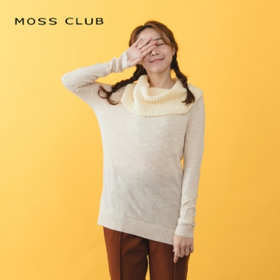 【MOSS CLUB】實穿款高領長袖-針織衫(三色)