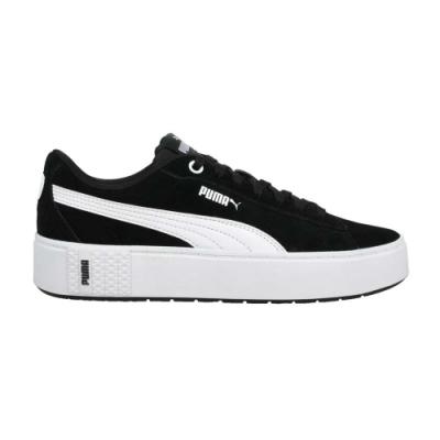 PUMA SMASH PLATFORM V2 SD 女休閒運動鞋-厚底鞋 板鞋 37303704 黑白