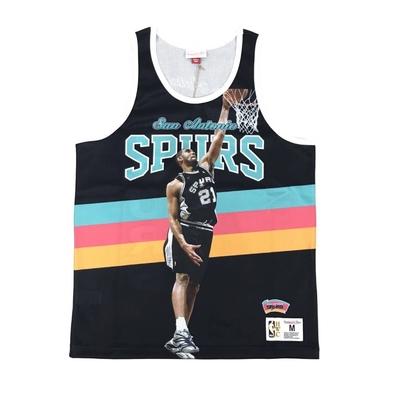 M&N NBA 球員印刷 復古球衣 馬刺隊 Tim Duncan