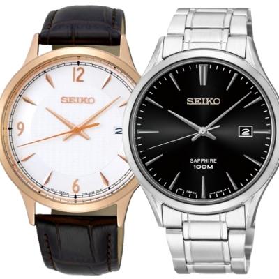 SEIKO精工  溫柔紳士經典石英腕錶x40mm