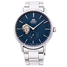 ORIENT 東方錶 縷空機械手錶RA-AR0101L-藍X銀/40mm
