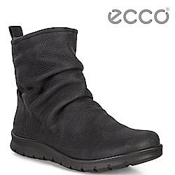 ECCO BABETT BOOT 簡約拉鍊保暖中筒靴 女-黑