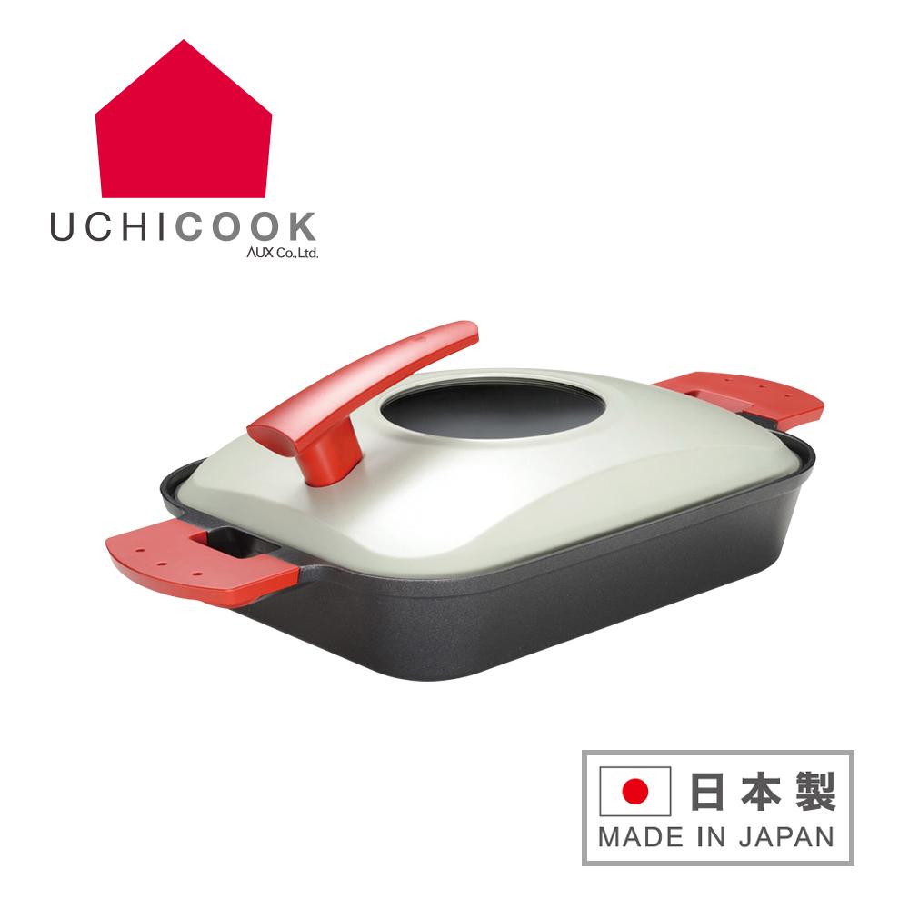 UCHICOOK 新水蒸氣式 健康燒烤蒸煮鍋-紅色