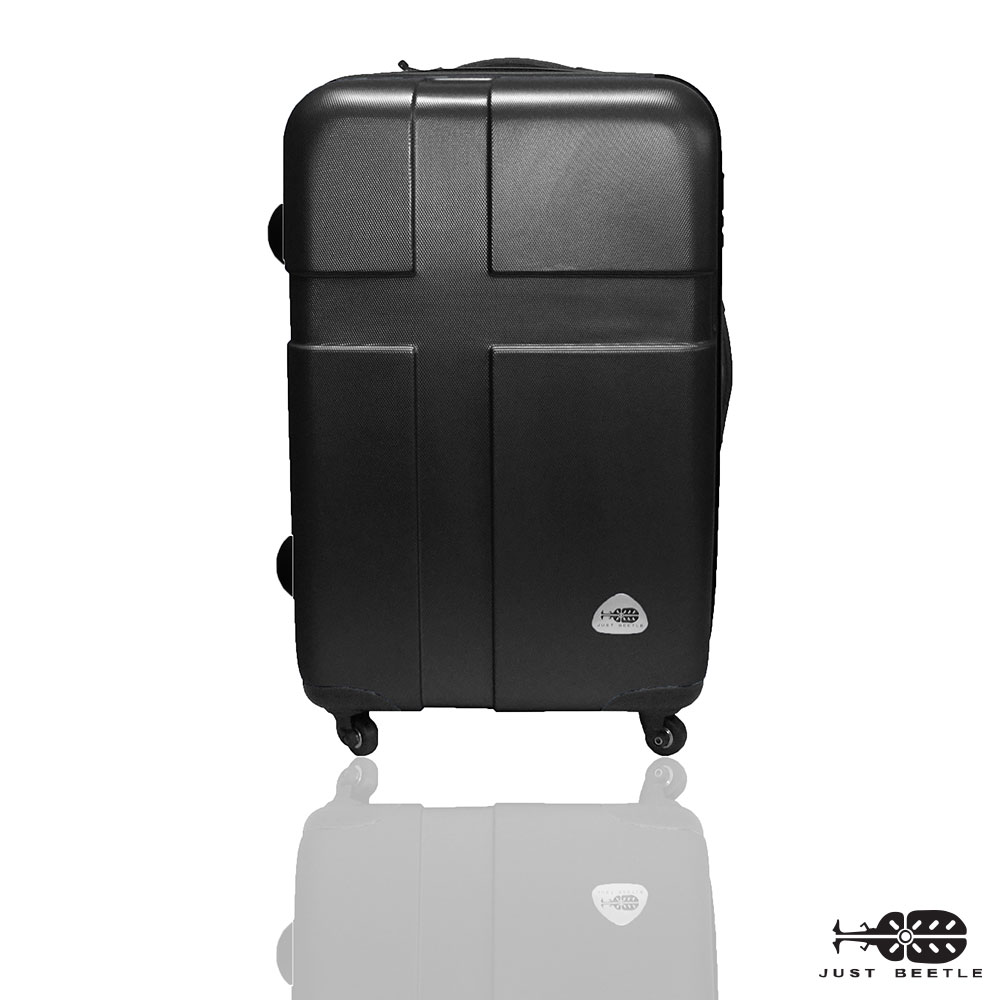 Just Beetle 愛琴海系列經典24吋 輕硬殼旅行箱行李箱-時尚黑