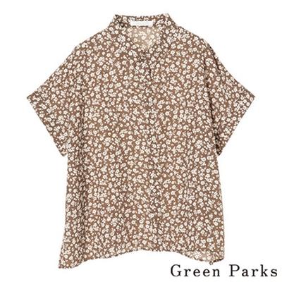 Green Parks  花朵印花五分袖上衣