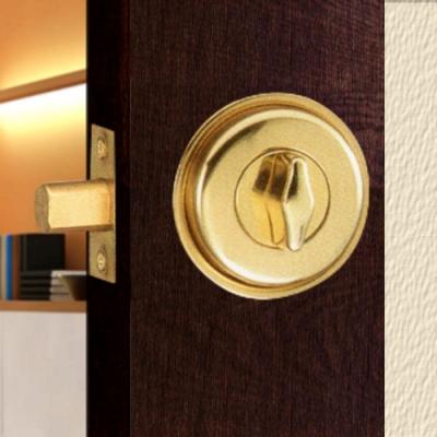 WACH 花旗門鎖 W210 金色 暗閂鎖 無鑰匙 半邊鎖 輔助鎖 補助鎖 通道鎖 防盜鎖