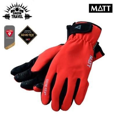 SNOW TRAVEL GoreTex防水透氣可觸控手套AR-75 紅色厚型(M/L)