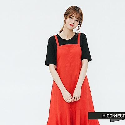 H:CONNECT 韓國品牌 女裝-細肩連身魚尾洋裝-紅