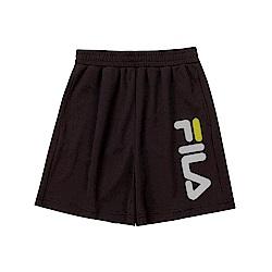 FILA KIDS 童吸濕排汗4分褲-黑色 1SHT-4909-BK