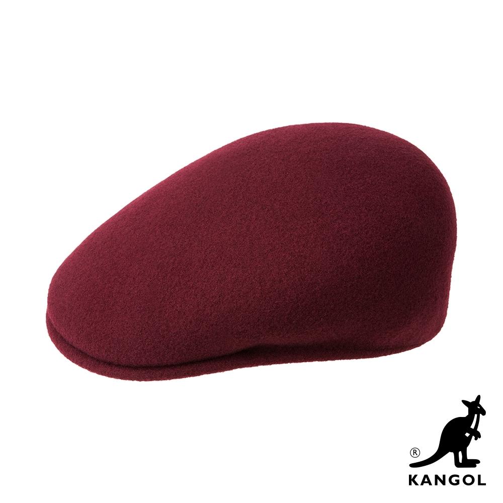 KANGOL-504 WOOL鴨舌帽-深紫色