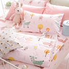 OLIVIA  小森林 粉 標準單人床包夏日涼被三件組 300織精梳純棉 台灣製