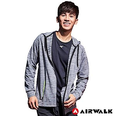 【AIRWALK】男款連帽外套-中灰色
