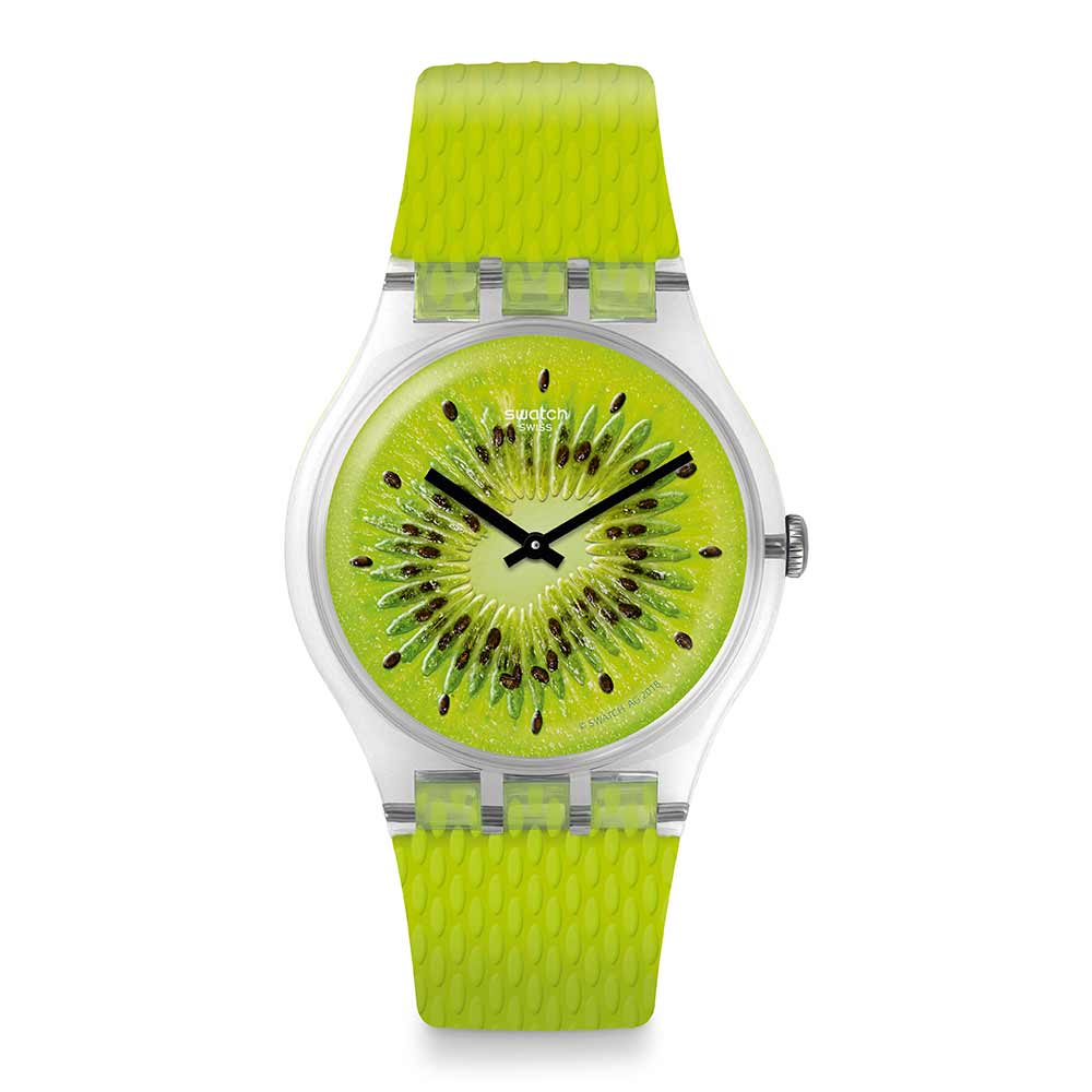 Swatch Energy Boost 系列 BIKIWI 奇異果樂園手錶-41mm