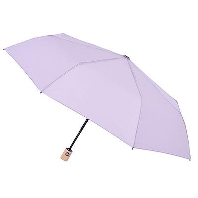 2mm 清新淡雅通勤自動開收傘 (淺紫)