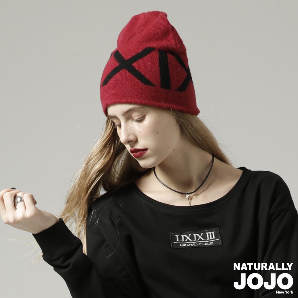 【NATURALLY JOJO】 原創緹字毛帽(紅)