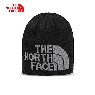 The North Face北面迷彩灰可反戴舒適保暖休閒毛帽|A5WGYNT