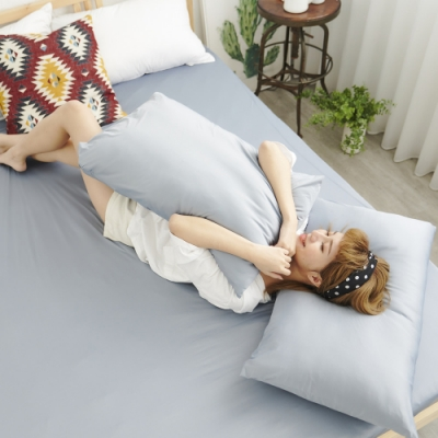 Adorar COOL沁涼純粹素色美式薄枕套1入-灰